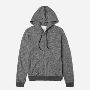 Everlane The Zip Hoodie Marled Gray Sz M